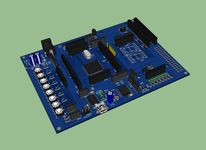 ATmega64 Development Board