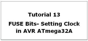 AVR Fuse Bits Setting