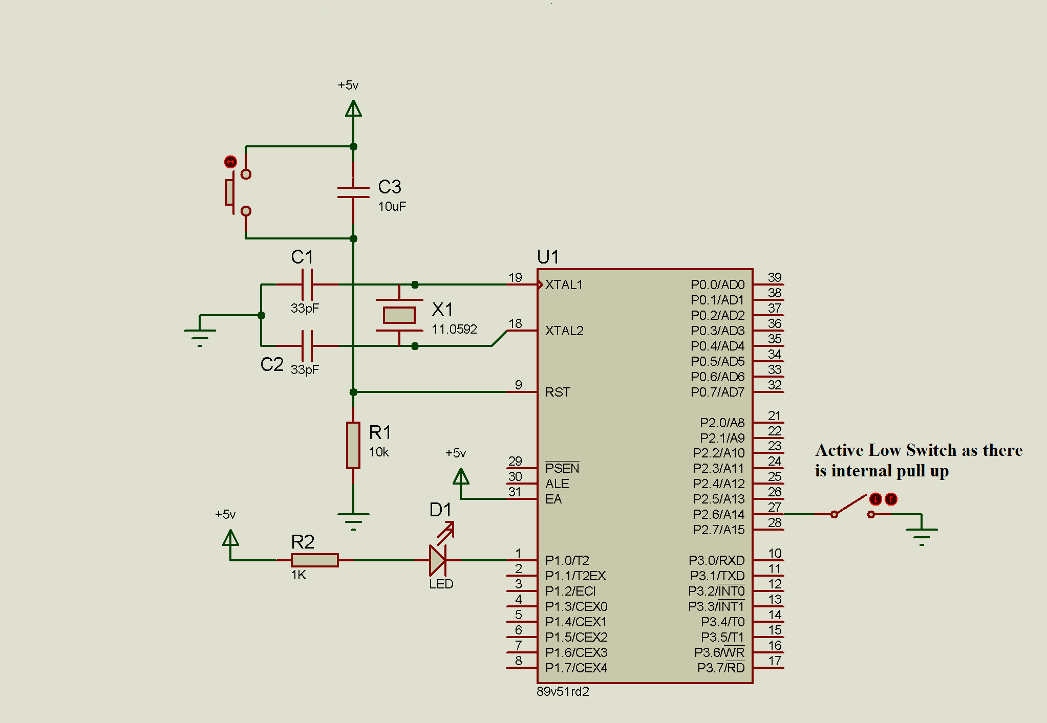 Microcontroller Circuit Diagram 8051 Schematic Diagrams Digital Tachometer Using Switch With Binaryupdates Kit