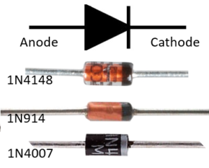 Circuit Symbol and Examples of Standard Diode