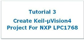 Create Project using Keil uVision4 for LPC1768 Microcontroller