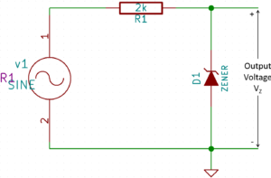 Example of Voltage Regulation with Zener Diode