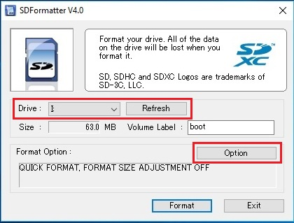 Format Micro SD Card with SDFormatter