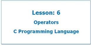 Operators in C Programming Language
